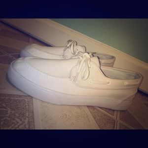Polo Ralph Lauren all white shoes